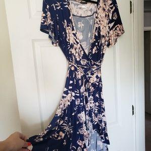 VENUS Blue floral dress
